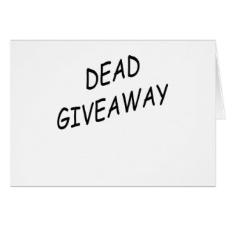 giveaway greeting card