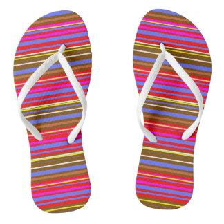Given Stripes Flip Flops