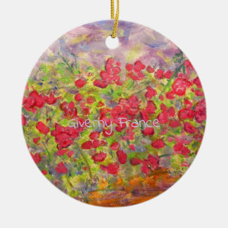 Giverny France Roses Christmas Ornament