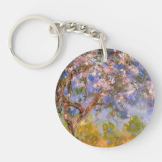 Giverny in Springtime Double-Sided Round Acrylic Key Ring