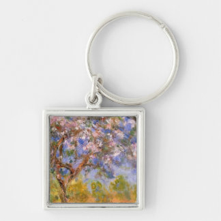Giverny in Springtime Silver-Colored Square Key Ring