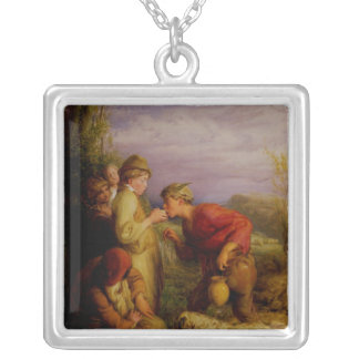 Giving a bite silver plated necklace