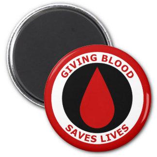 Giving Blood Saves Lives Fridge Magnets