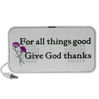 Giving God thanks Christian iPod Speakers