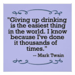 Giving up drinking