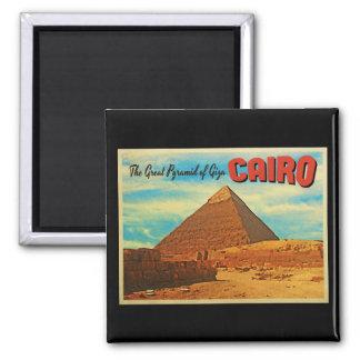 Giza Pyramid Cairo Egypt Square Magnet