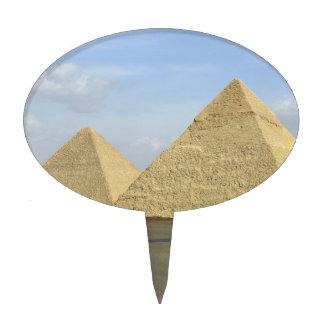 Giza Pyramids Photo Oval Cake Pick