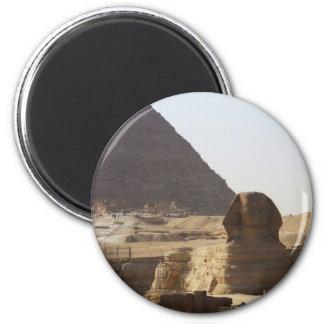 Giza Pyramids & Sphinx photo 6 Cm Round Magnet