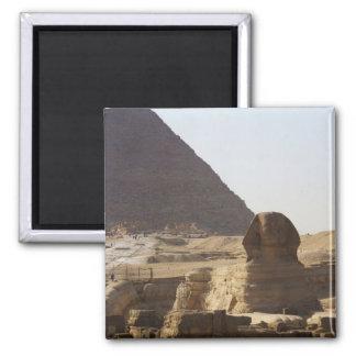 Giza Pyramids & Sphinx photo Square Magnet
