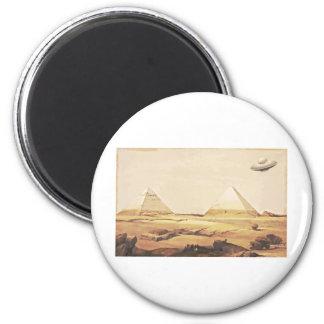 Giza Spaceship 6 Cm Round Magnet
