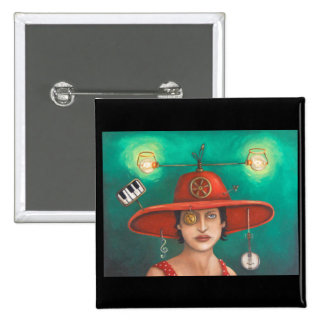 Gizmo 7 15 cm square badge