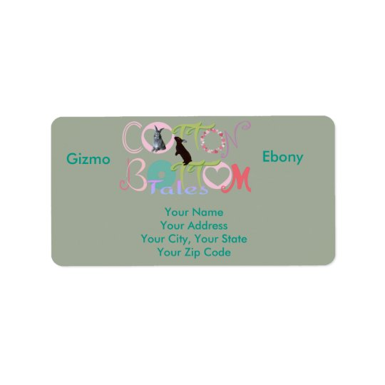 Gizmo & Ebony Cotton Bottom Tales Address Labels