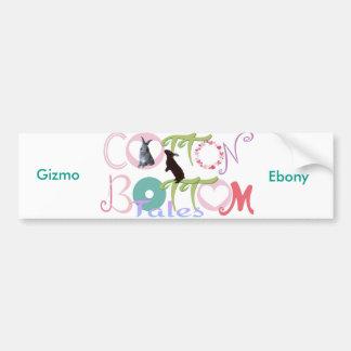 Gizmo & Ebony Cotton Bottom Tales Bumper Sticker