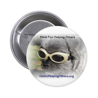Gizmo the Dog that Helps others Buttons