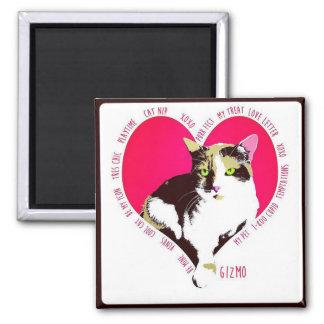 Gizmo Valentine Square Magnet