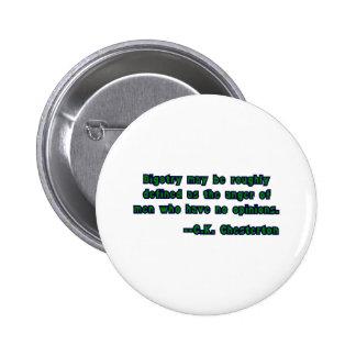 GK Chesterton & Bigotry 6 Cm Round Badge