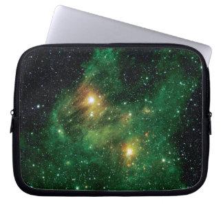 GL490 Green Gas Cloud Nebula Laptop Sleeves