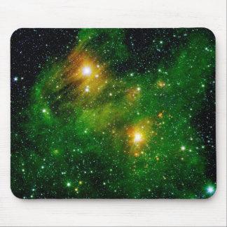 GL490 Green Gas Cloud Nebula Mouse Pad