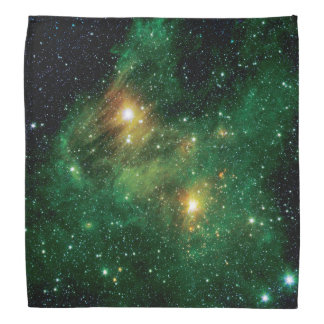 GL490 Green Gas Cloud Nebula - NASA Space Photo Bandana