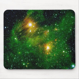 GL490 Green Gas Cloud Nebula - NASA Space Photo Mouse Mat