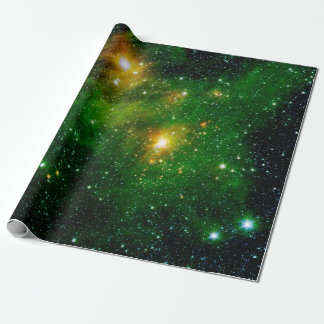 GL490 Green Gas Cloud Nebula Wrapping Paper