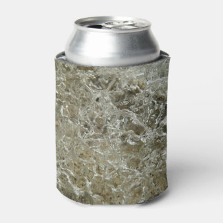 Glacial Ice Abstract Nature Textured Design Can Cooler