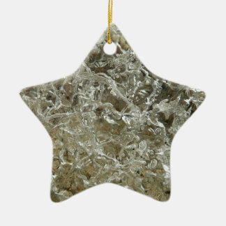 Glacial Ice Abstract Nature Textured Design Christmas Ornament