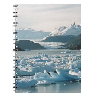 Glacial Icebergs Spiral Notebook