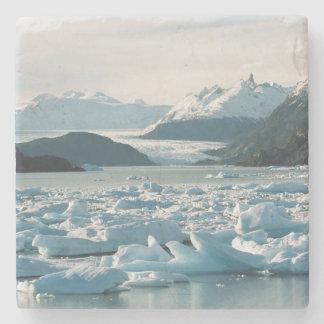 Glacial Icebergs Stone Beverage Coaster
