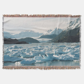 Glacial Icebergs Throw Blanket