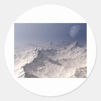 Glacial Landscape Round Sticker