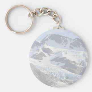 Glacier and Mountains Basic Round Button Key Ring