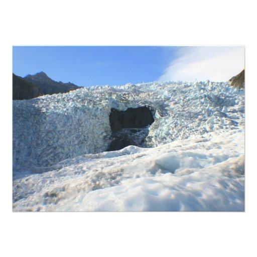 Glacier Arch, New Zealand Personalized Invitation