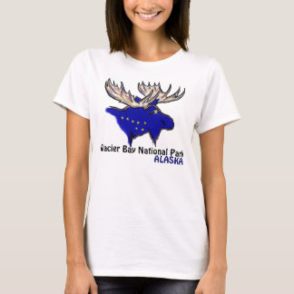Glacier Bay National Park Alaska flag ladies tee