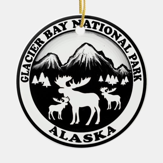 Glacier Bay National Park Alaska moose circle Christmas