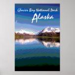 Glacier Bay National Park Alaska scenic poster