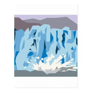 Glacier Calving Postcard