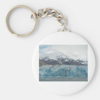 Glacier Endicott Arm Fjord Alaska Basic Round Button Key Ring