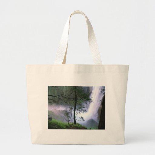 Glacier Falls Tote Bags