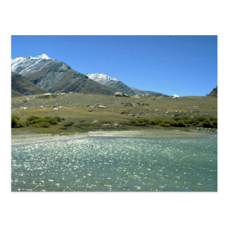 Glacier fed lake, Ladakh, India Postcard