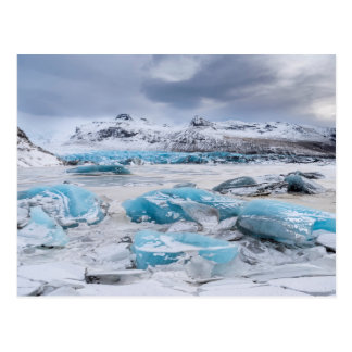 Glacier Ice landscape, Iceland Postcard