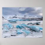 Glacier Ice landscape, Iceland Poster