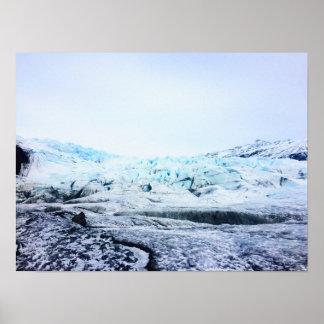 Glacier in Iceland. Poster
