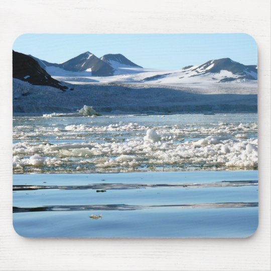 Glacier in Svalbard Mouse Mat