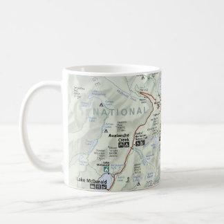 Glacier map mug