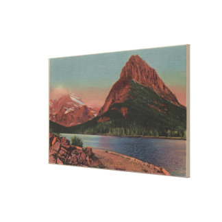 Glacier, MT - View of Grinnell Mt. & Swiftcurren Canvas Print