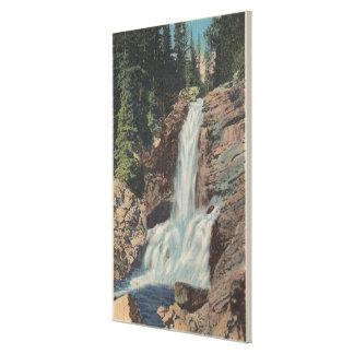 Glacier, MT - View of Trick Falls & Medicine Stretched Canvas Prints