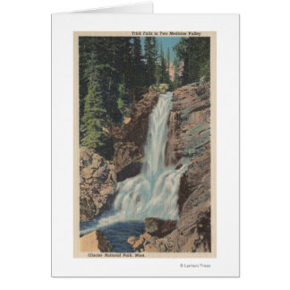 Glacier, MT - View of Trick Falls & Medicine Card