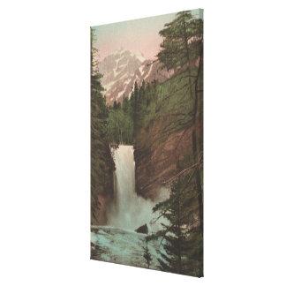 Glacier, MTView of Trick Falls Glacier, MT Stretched Canvas Print