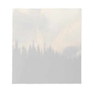 Glacier National Park Menacing Sky and Trees Notepads